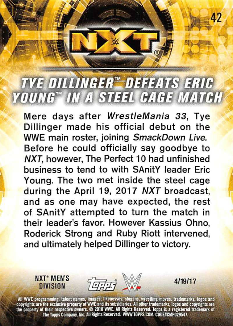 2018-Topps-WWE-NXT-Base-or-Matches-and-Moments-Cards-Pick-From-List thumbnail 109