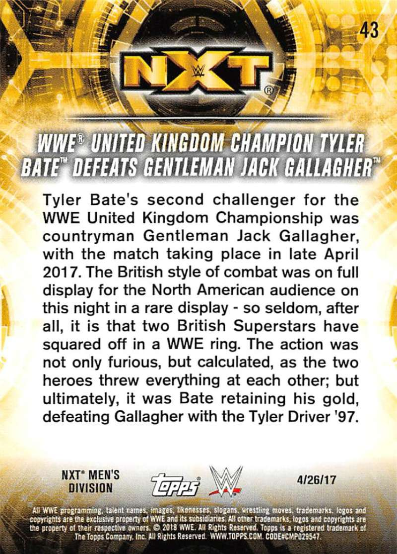 2018-Topps-WWE-NXT-Base-or-Matches-and-Moments-Cards-Pick-From-List thumbnail 111