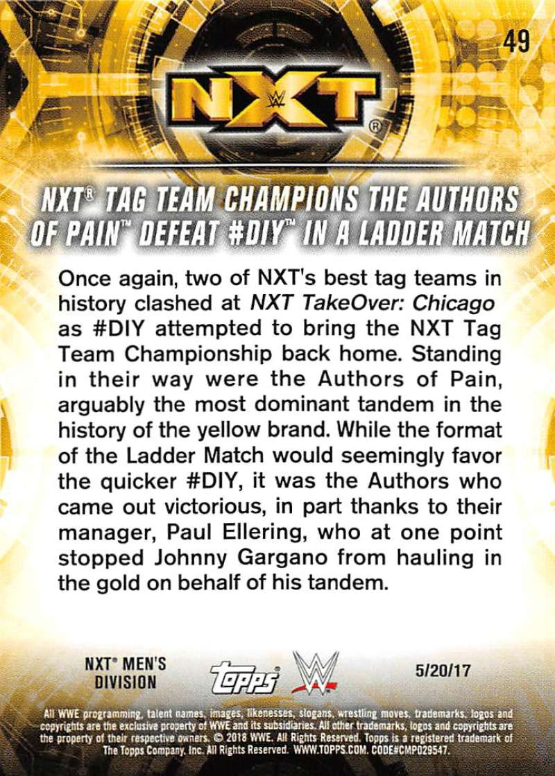 2018-Topps-WWE-NXT-Base-or-Matches-and-Moments-Cards-Pick-From-List thumbnail 121