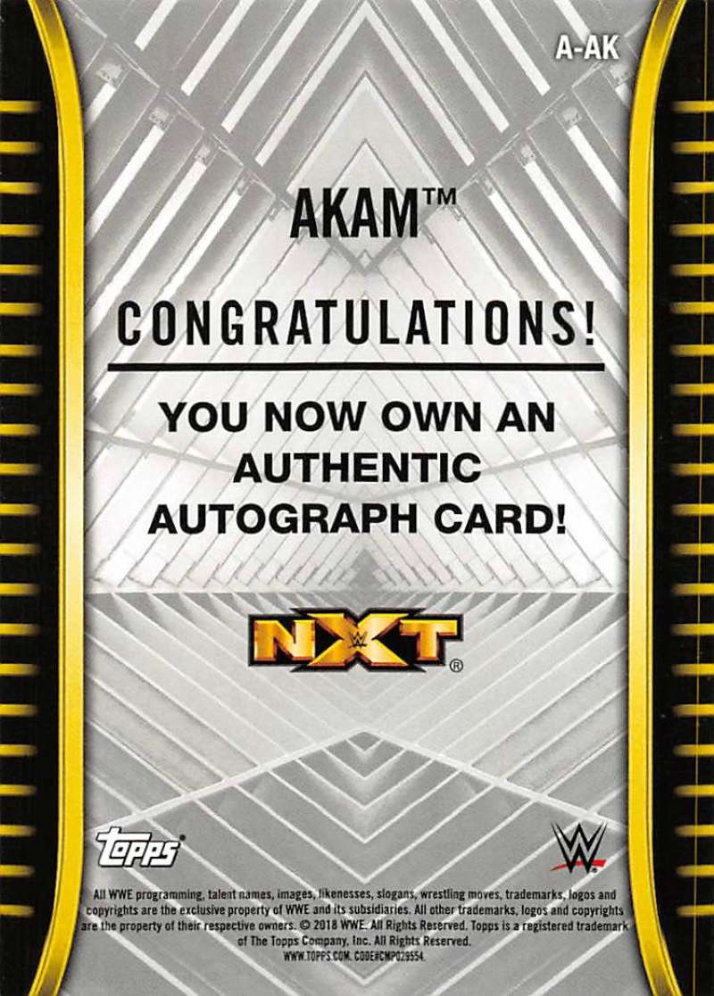 2018-Topps-WWE-NXT-Base-Bronze-Blue-or-Silver-Autographs-Pick-From-List thumbnail 3