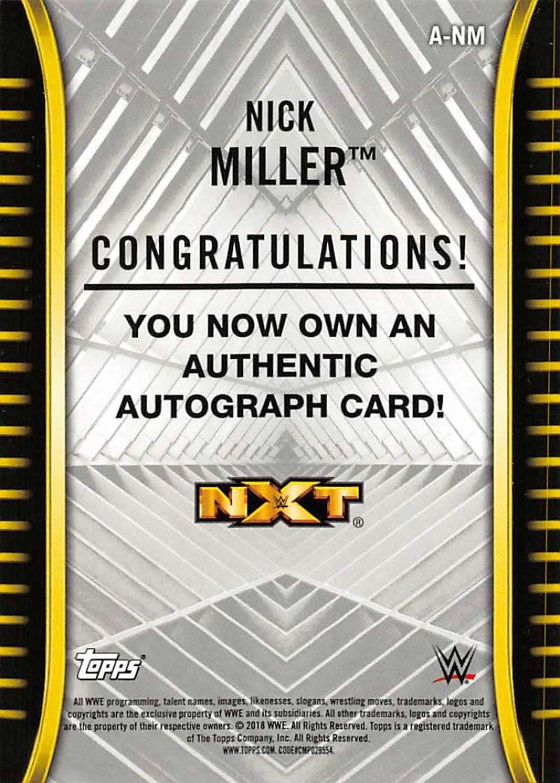2018-Topps-WWE-NXT-Base-Bronze-Blue-or-Silver-Autographs-Pick-From-List thumbnail 21