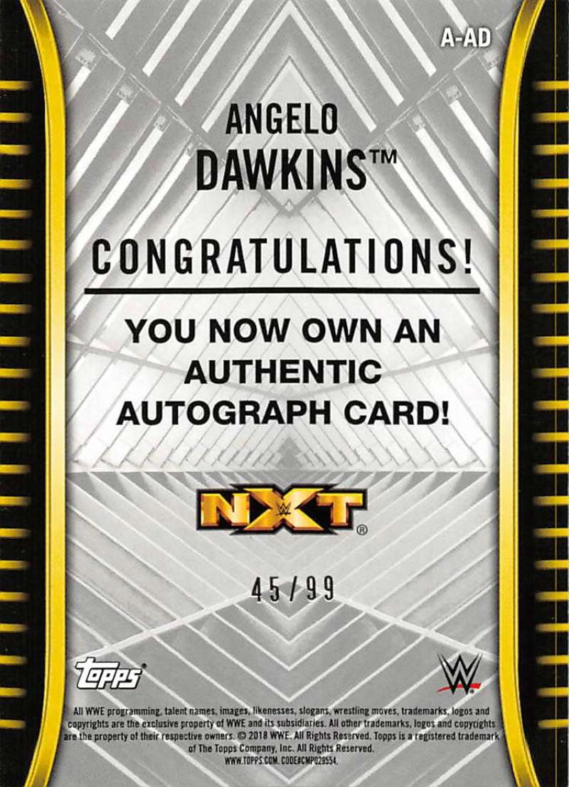 2018-Topps-WWE-NXT-Base-Bronze-Blue-or-Silver-Autographs-Pick-From-List thumbnail 37