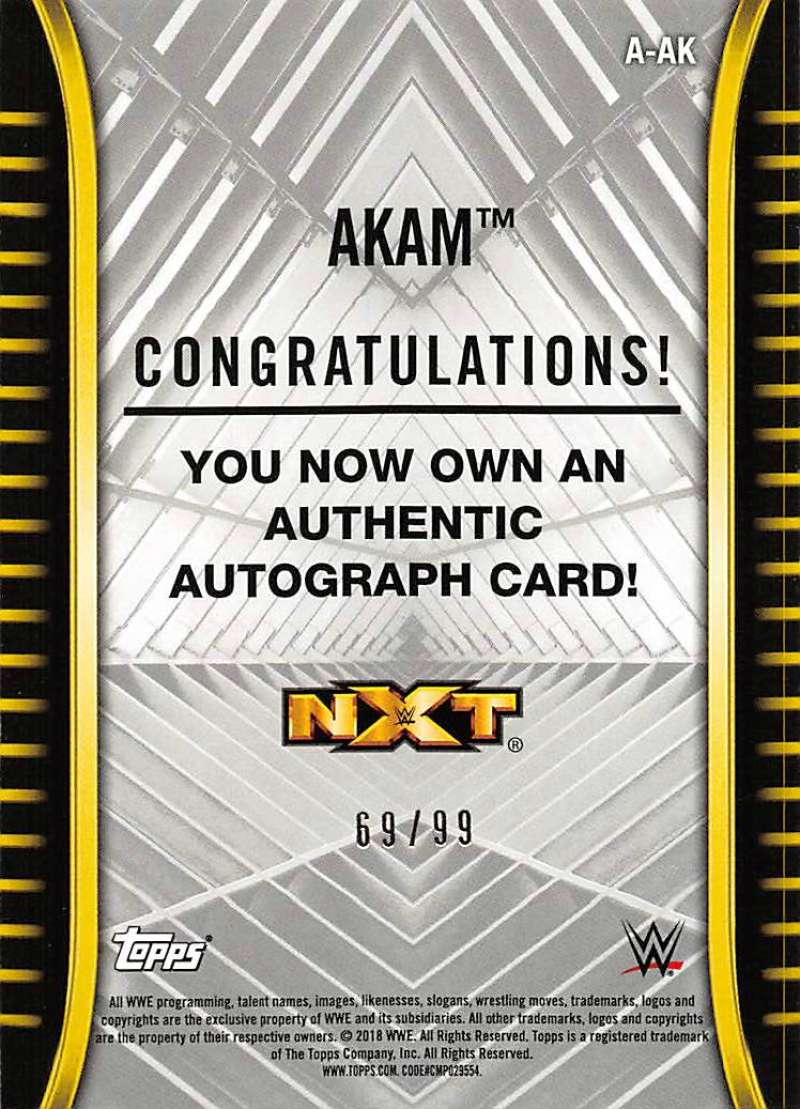 2018-Topps-WWE-NXT-Base-Bronze-Blue-or-Silver-Autographs-Pick-From-List thumbnail 39