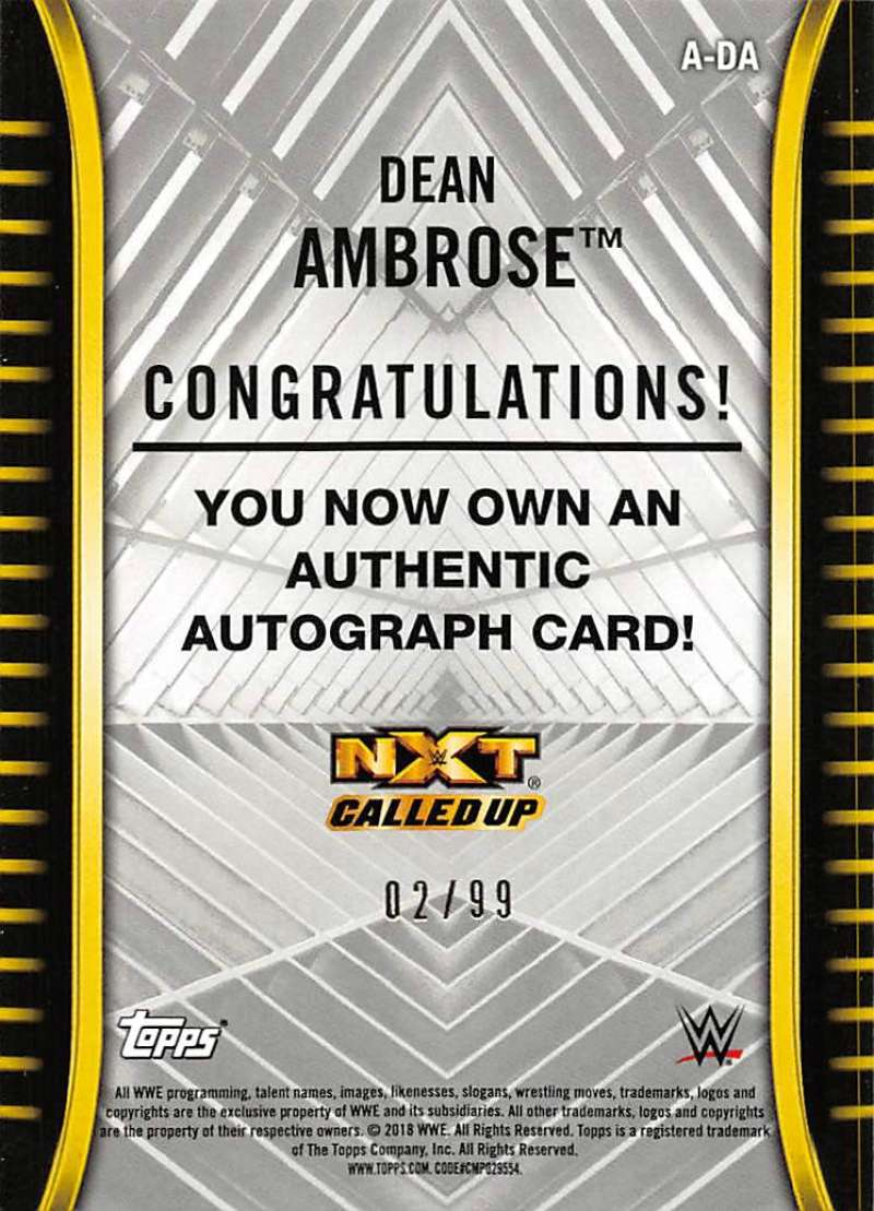 2018-Topps-WWE-NXT-Base-Bronze-Blue-or-Silver-Autographs-Pick-From-List thumbnail 43