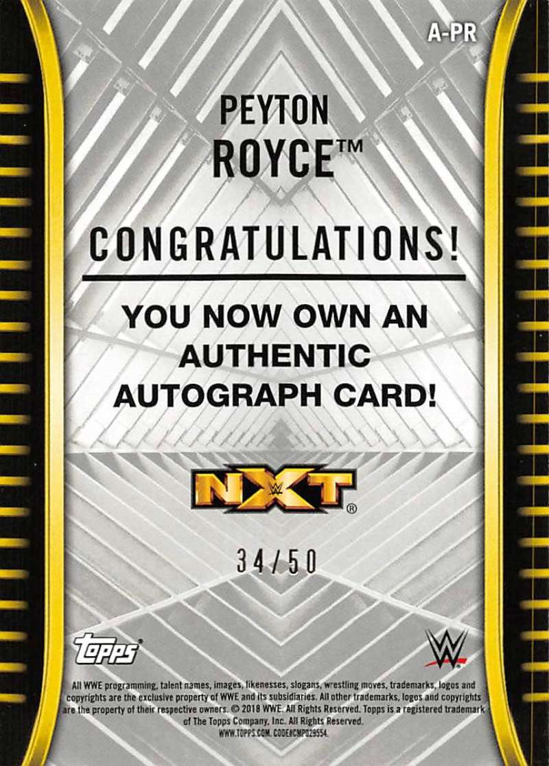 2018-Topps-WWE-NXT-Base-Bronze-Blue-or-Silver-Autographs-Pick-From-List thumbnail 55