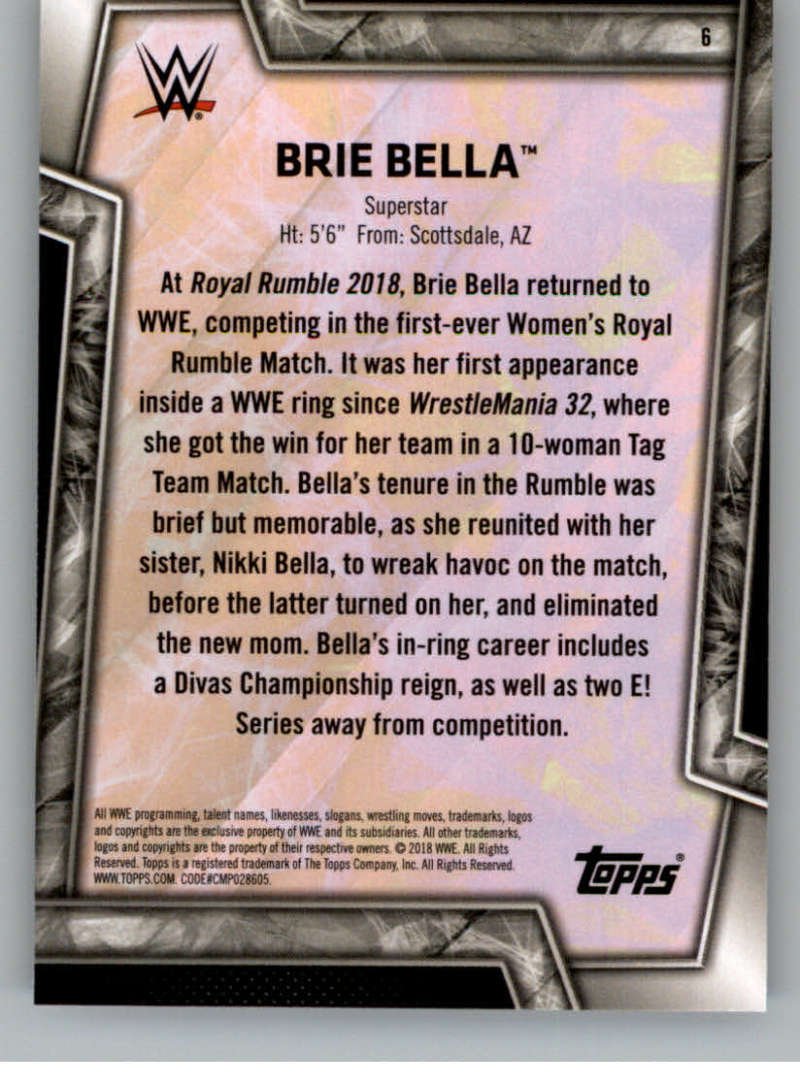 2018-Topps-WWE-Women-039-s-Division-Evolution-Base-and-Insert-Cards-Pick-From-List thumbnail 7