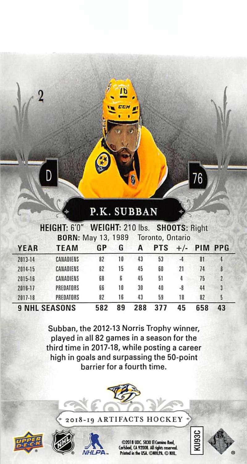 2018-19-Upper-Deck-Artifacts-Hockey-Cards-Pick-From-List-Rookies-Legends-SPs miniature 3