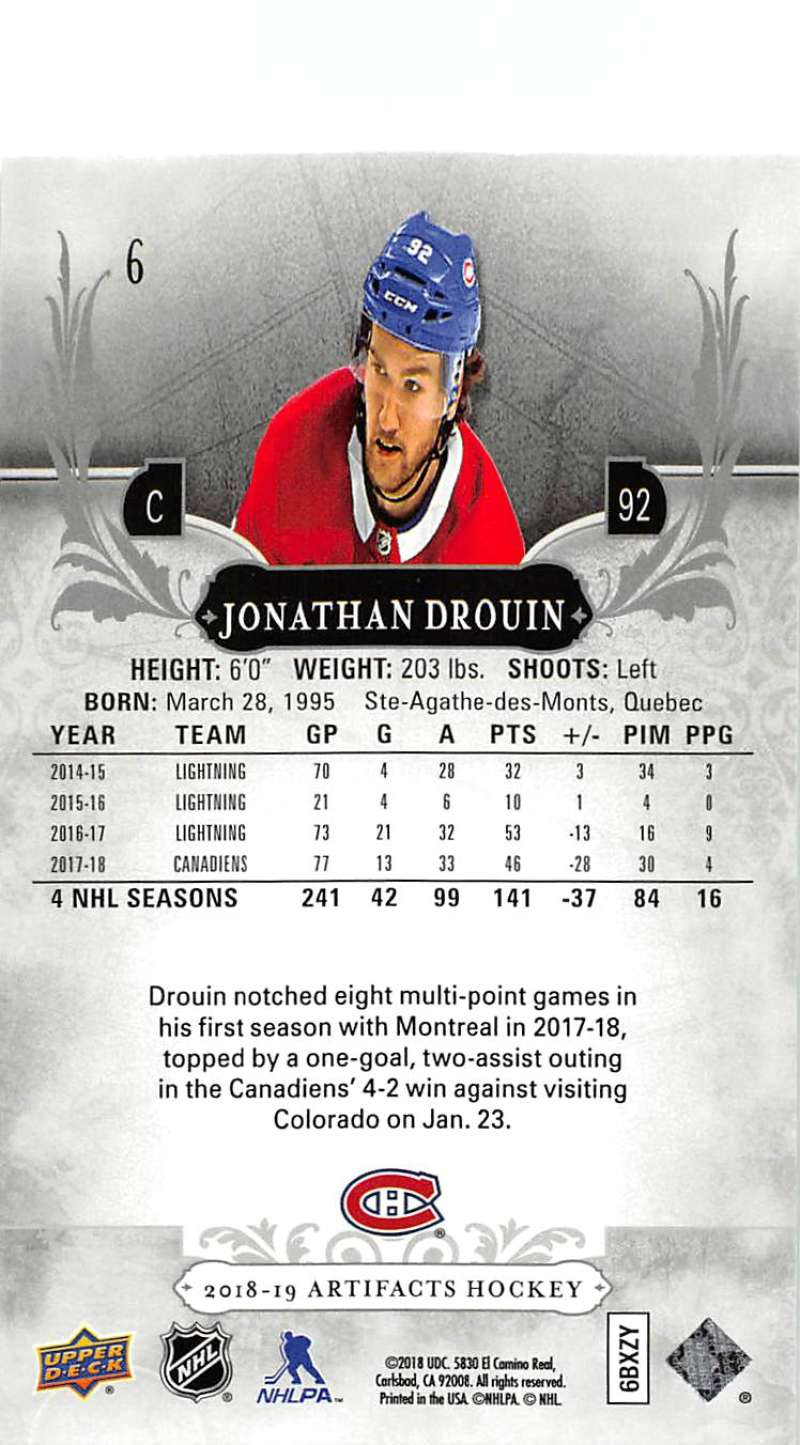 2018-19-Upper-Deck-Artifacts-Hockey-Cards-Pick-From-List-Rookies-Legends-SPs miniature 9