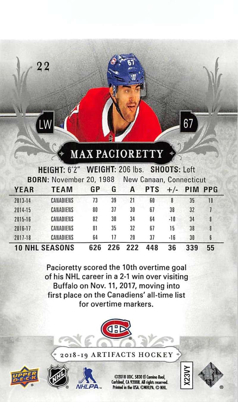 2018-19-Upper-Deck-Artifacts-Hockey-Cards-Pick-From-List-Rookies-Legends-SPs miniature 35