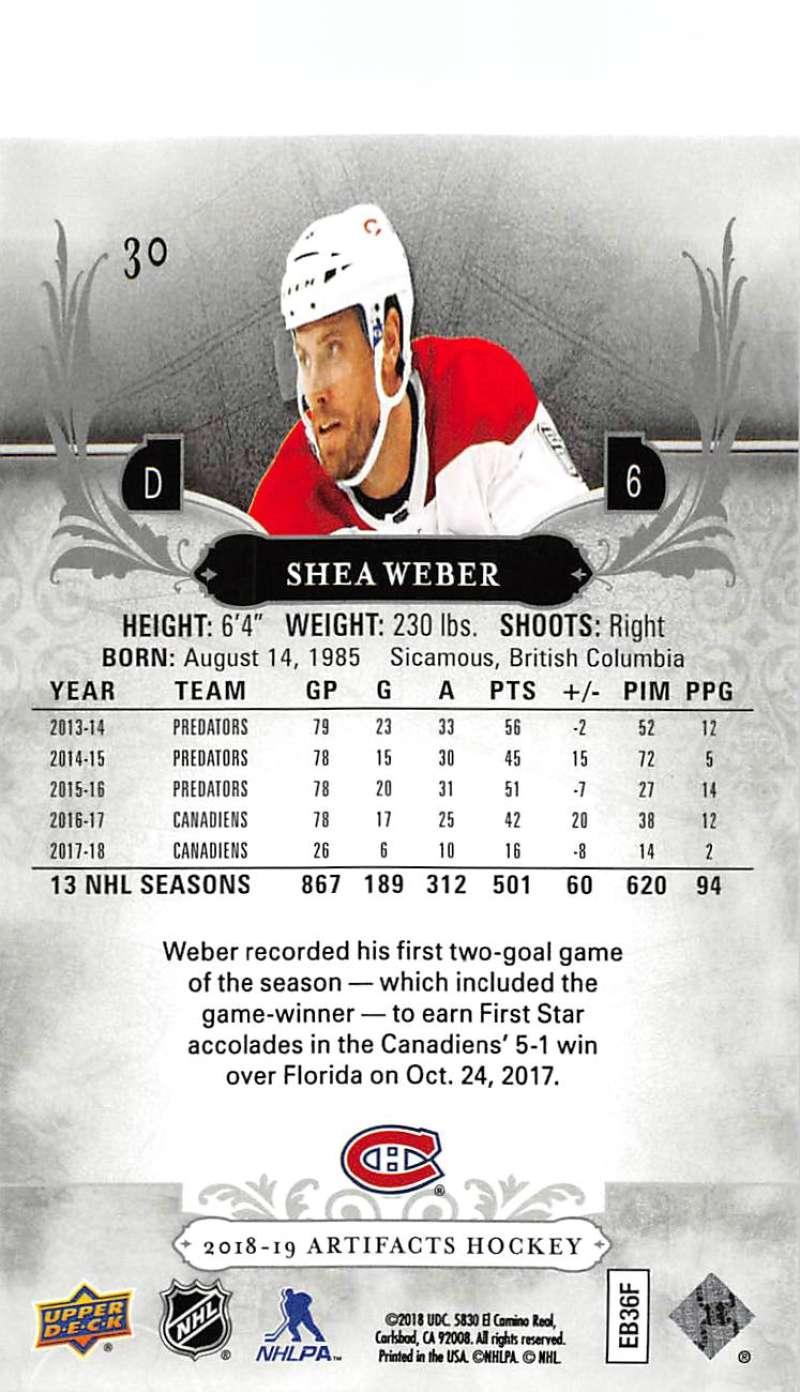 2018-19-Upper-Deck-Artifacts-Hockey-Cards-Pick-From-List-Rookies-Legends-SPs miniature 47