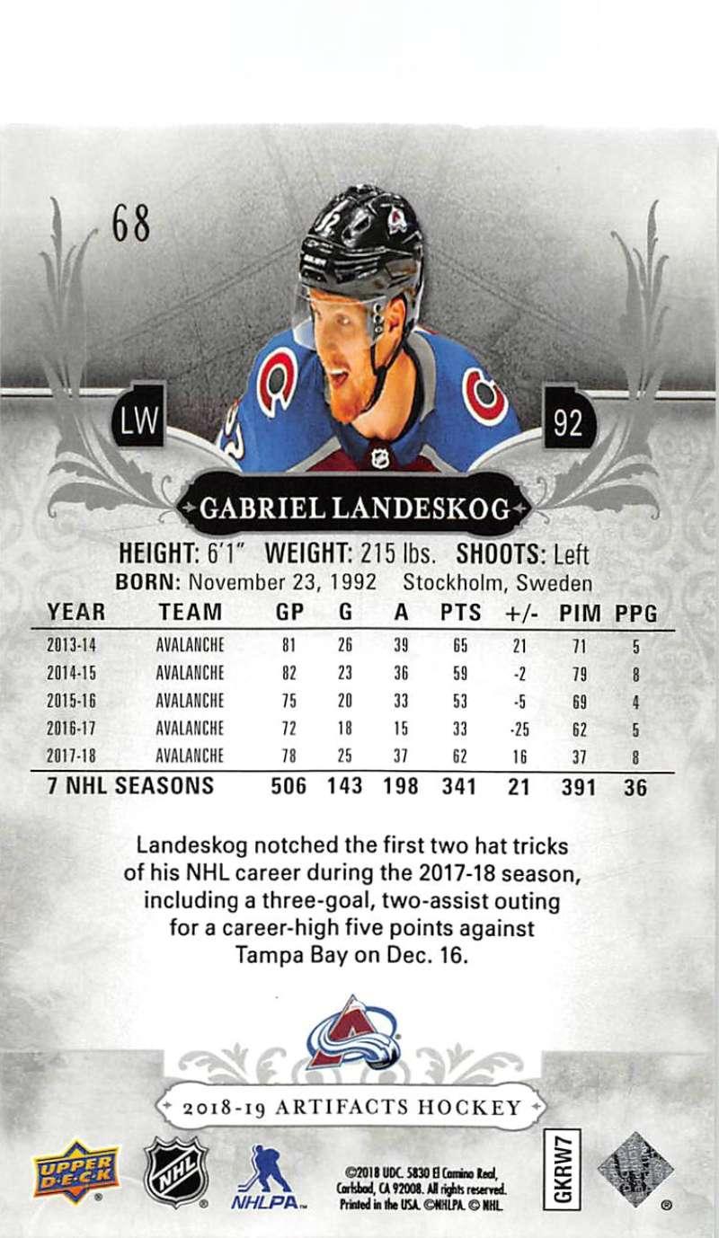 2018-19-Upper-Deck-Artifacts-Hockey-Cards-Pick-From-List-Rookies-Legends-SPs miniature 115