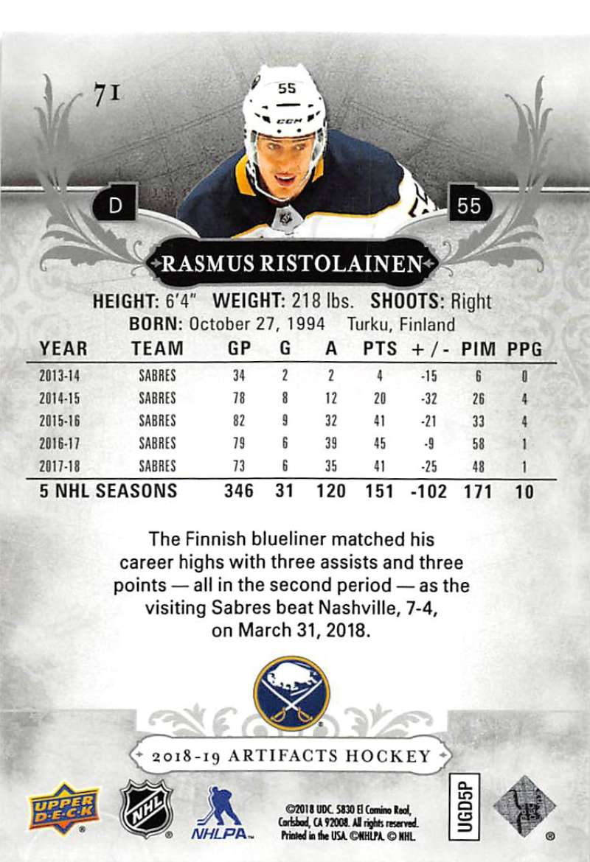 2018-19-Upper-Deck-Artifacts-Hockey-Cards-Pick-From-List-Rookies-Legends-SPs miniature 121