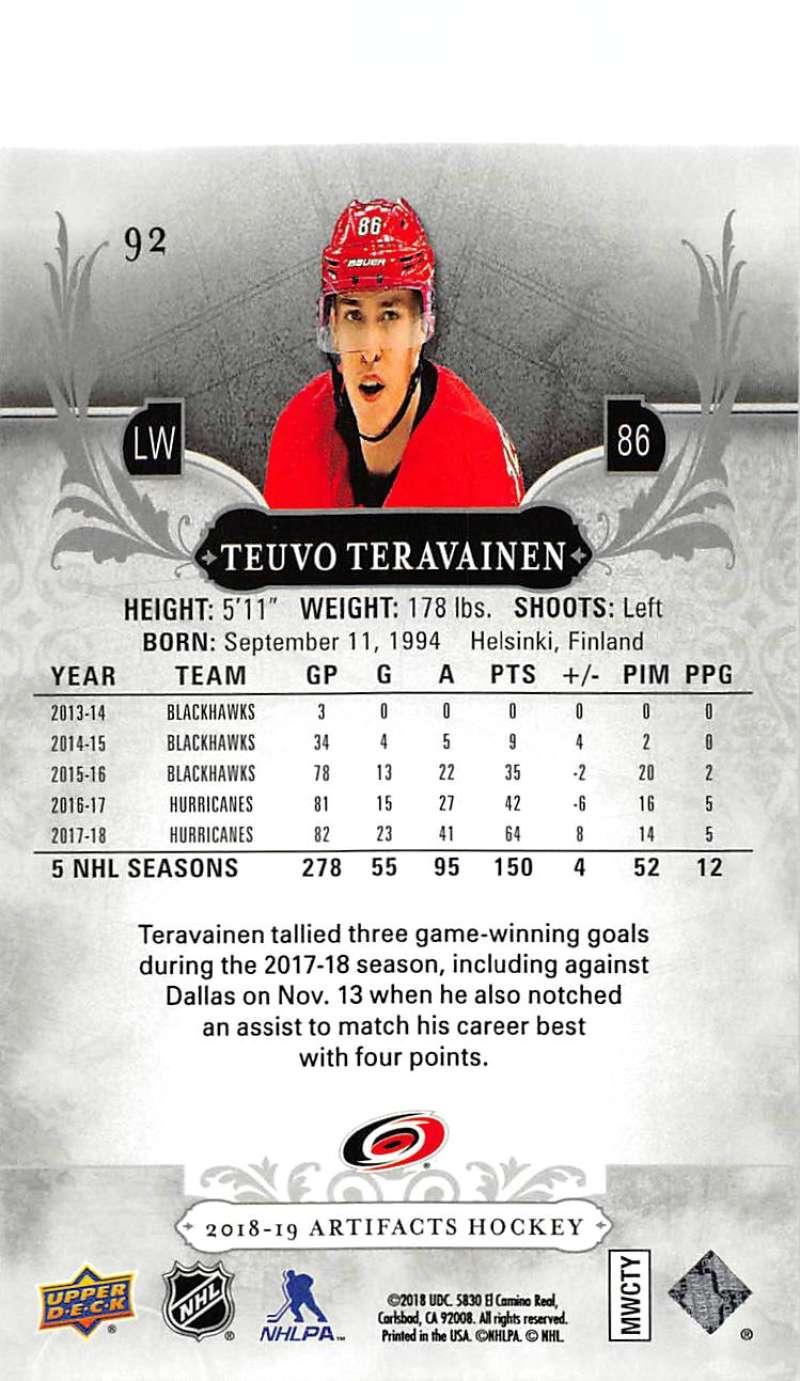2018-19-Upper-Deck-Artifacts-Hockey-Cards-Pick-From-List-Rookies-Legends-SPs miniature 151