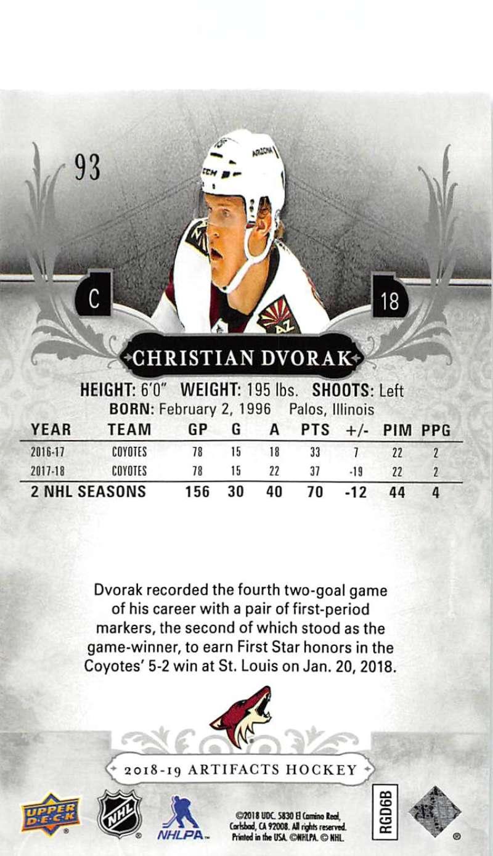 2018-19-Upper-Deck-Artifacts-Hockey-Cards-Pick-From-List-Rookies-Legends-SPs miniature 153