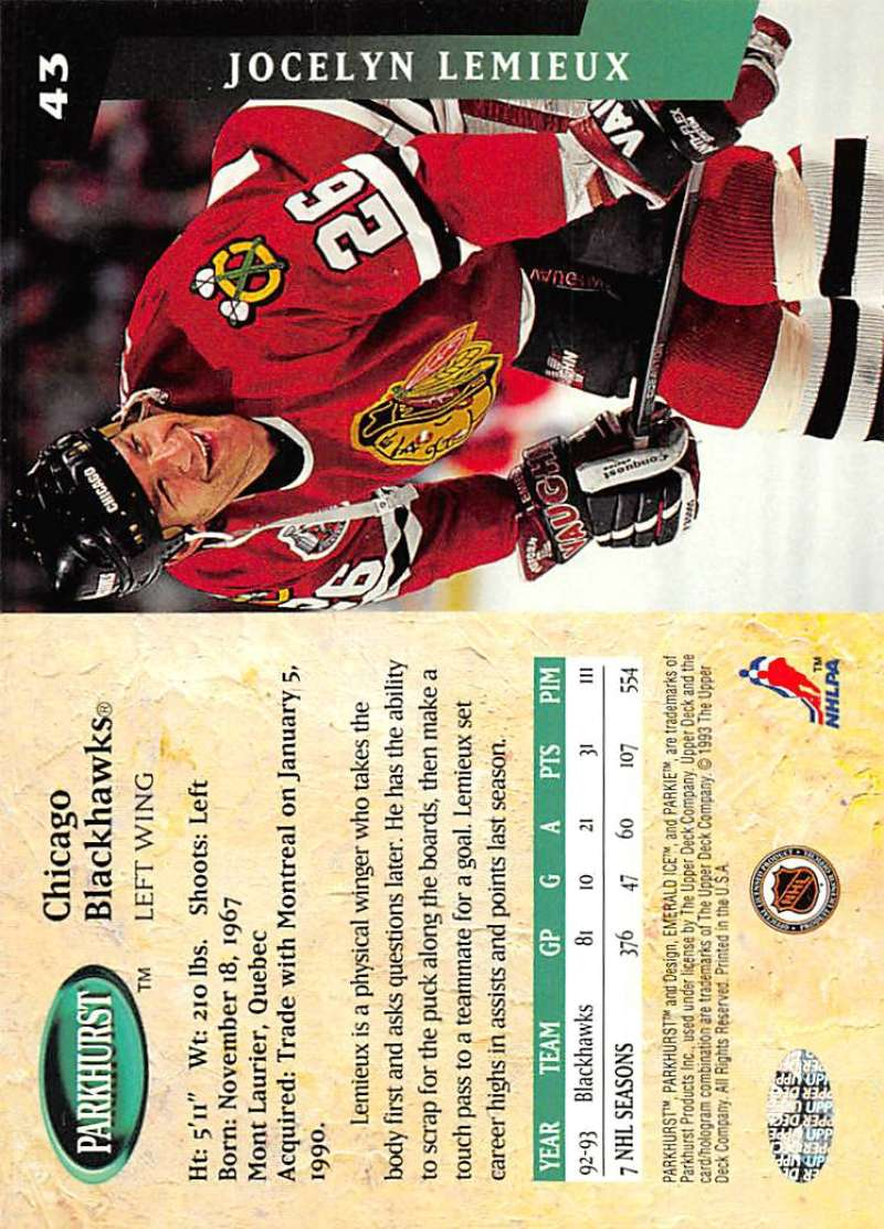 1993-94-Parkhurst-Emerald-Ice-Hockey-Cards-Pick-From-List-1-200 thumbnail 47