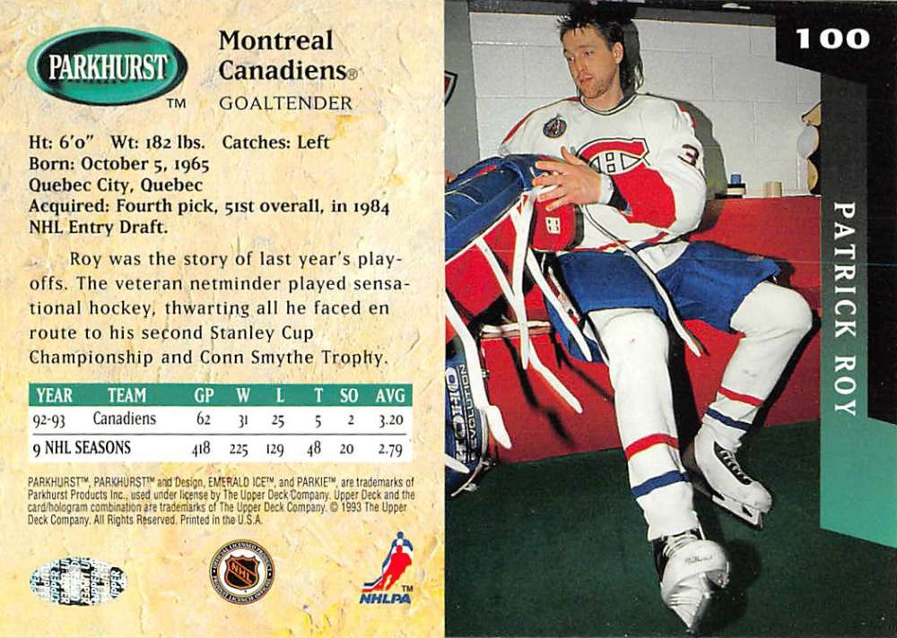 1993-94-Parkhurst-Emerald-Ice-Hockey-Cards-Pick-From-List-1-200 thumbnail 119
