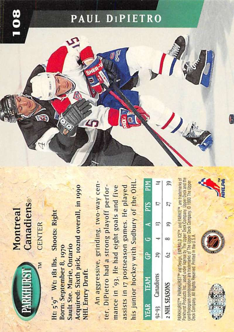 1993-94-Parkhurst-Emerald-Ice-Hockey-Cards-Pick-From-List-1-200 thumbnail 129