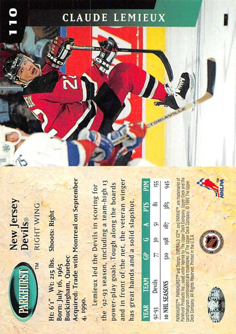 1993-94-Parkhurst-Emerald-Ice-Hockey-Cards-Pick-From-List-1-200 thumbnail 133