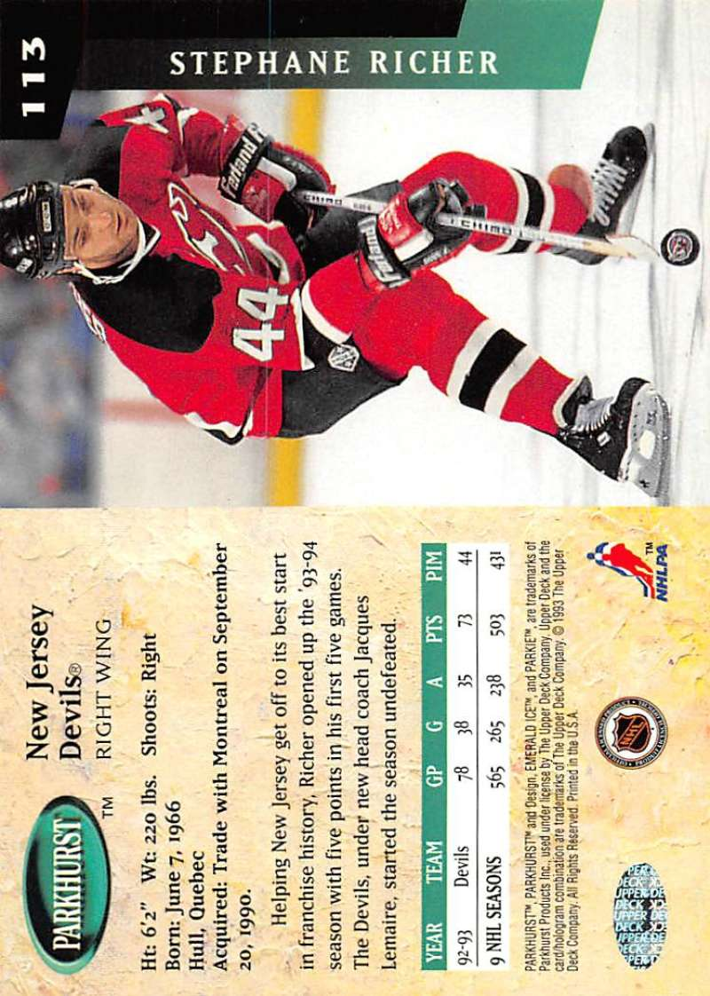 1993-94-Parkhurst-Emerald-Ice-Hockey-Cards-Pick-From-List-1-200 thumbnail 139
