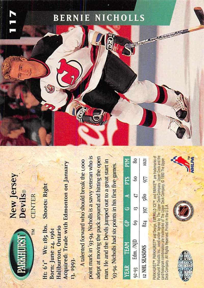 1993-94-Parkhurst-Emerald-Ice-Hockey-Cards-Pick-From-List-1-200 thumbnail 145