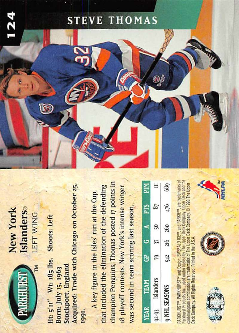 1993-94-Parkhurst-Emerald-Ice-Hockey-Cards-Pick-From-List-1-200 thumbnail 153