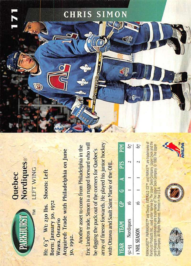 1993-94-Parkhurst-Emerald-Ice-Hockey-Cards-Pick-From-List-1-200 thumbnail 197