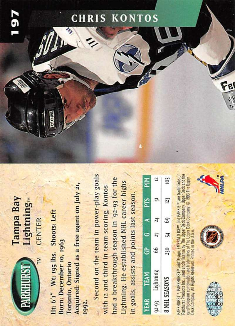 1993-94-Parkhurst-Emerald-Ice-Hockey-Cards-Pick-From-List-1-200 thumbnail 221