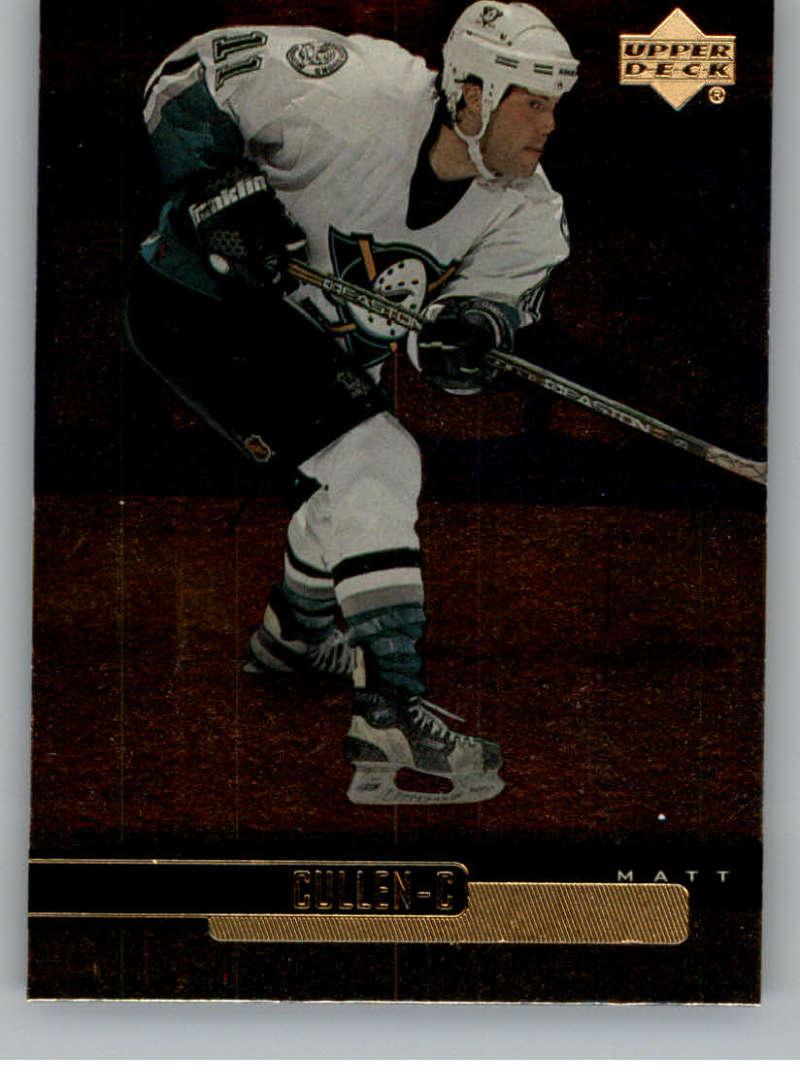 1999-00 Upper Deck Gold Reserve Official NHL Hockey Card #12 Matt Cullen NM-MT Anaheim Ducks  UD Hockey Card