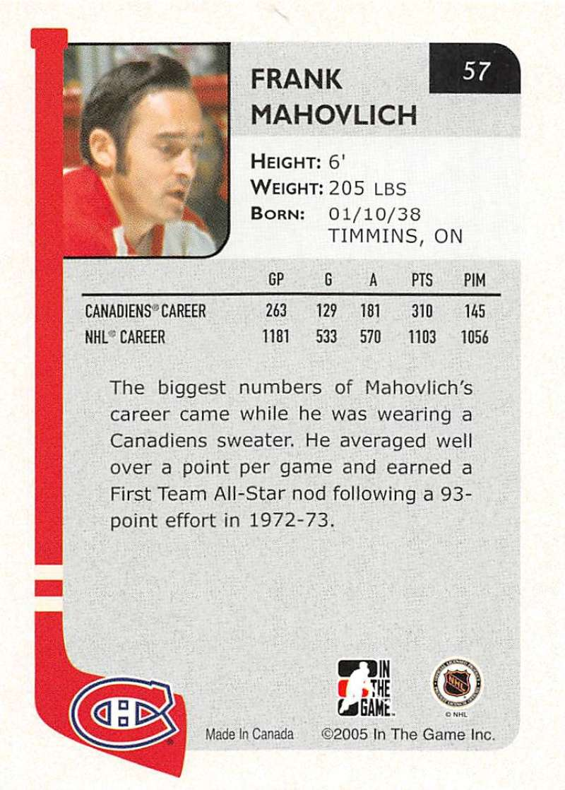 2004-05-ITG-In-The-Game-Franchises-Hockey-Cards-Pick-From-List-1-250 thumbnail 103