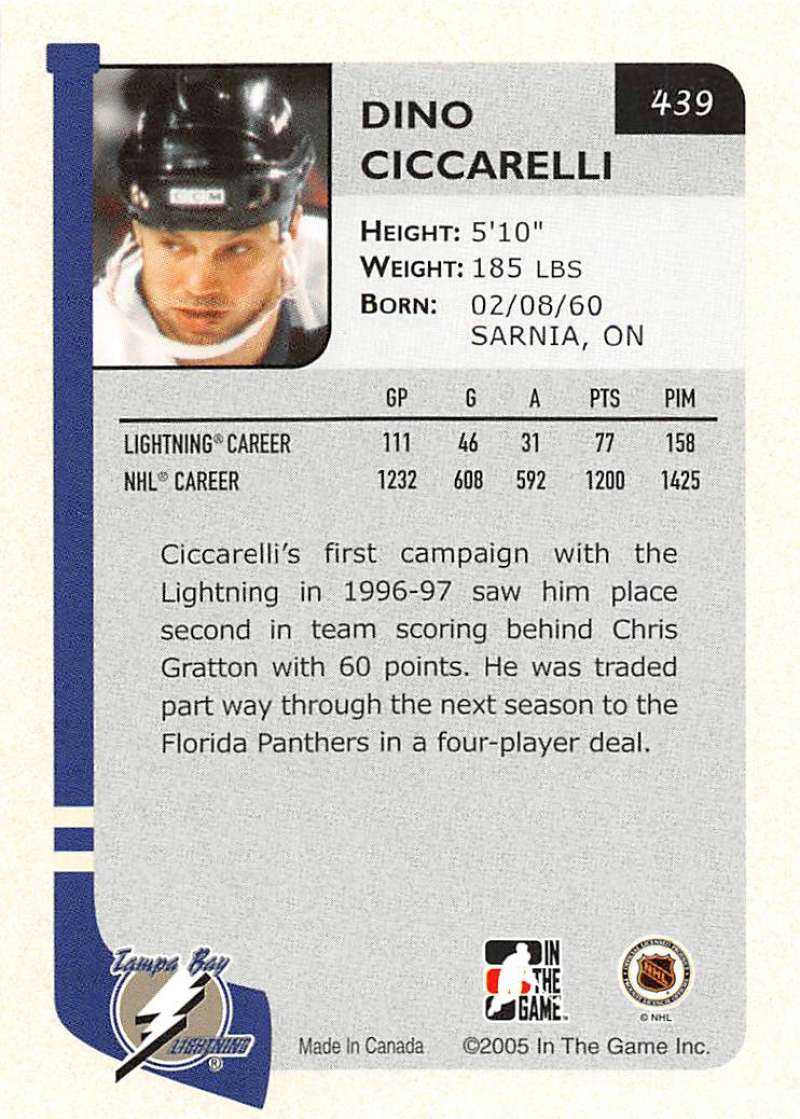 2004-05-ITG-In-The-Game-Franchises-Hockey-Cards-Pick-From-List-251-500 thumbnail 215