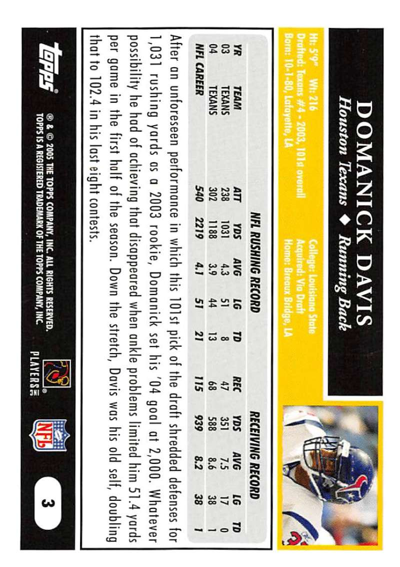 2005-Topps-NFL-Football-Cards-Pick-From-List-1-220 thumbnail 7