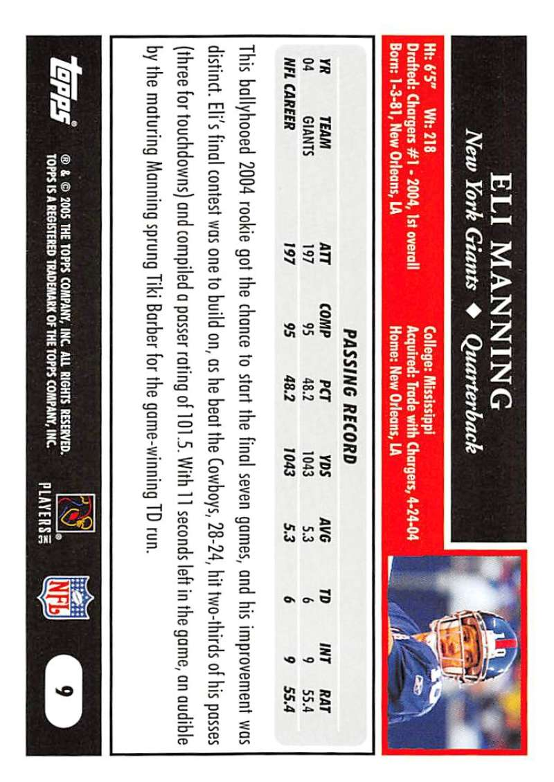 2005-Topps-NFL-Football-Cards-Pick-From-List-1-220 thumbnail 19