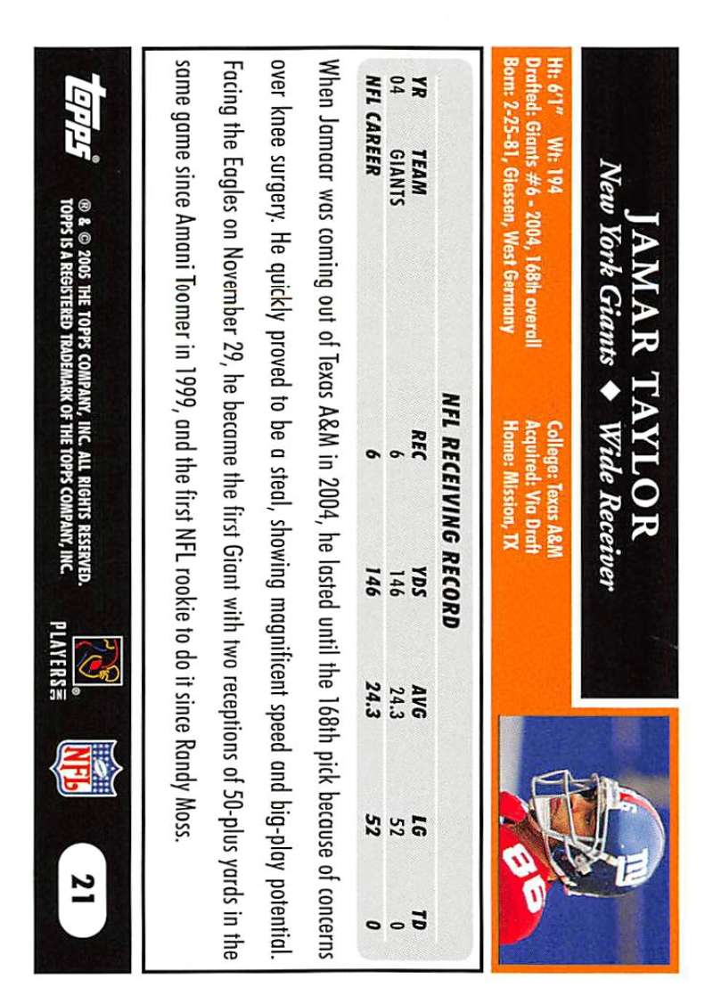 2005-Topps-NFL-Football-Cards-Pick-From-List-1-220 thumbnail 41