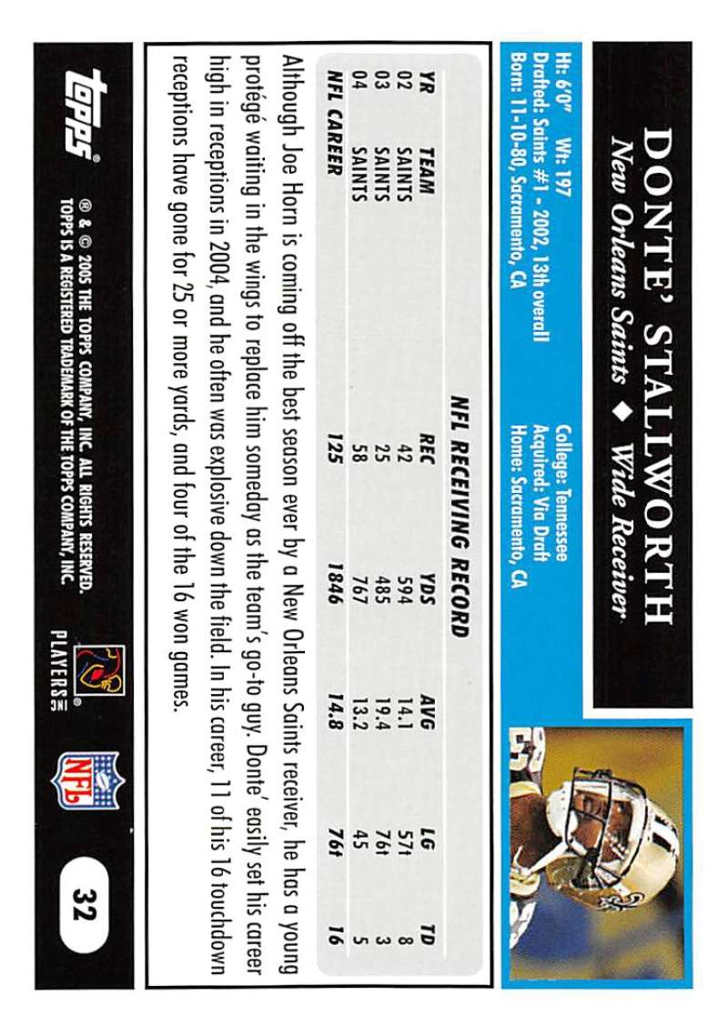 2005-Topps-NFL-Football-Cards-Pick-From-List-1-220 thumbnail 57