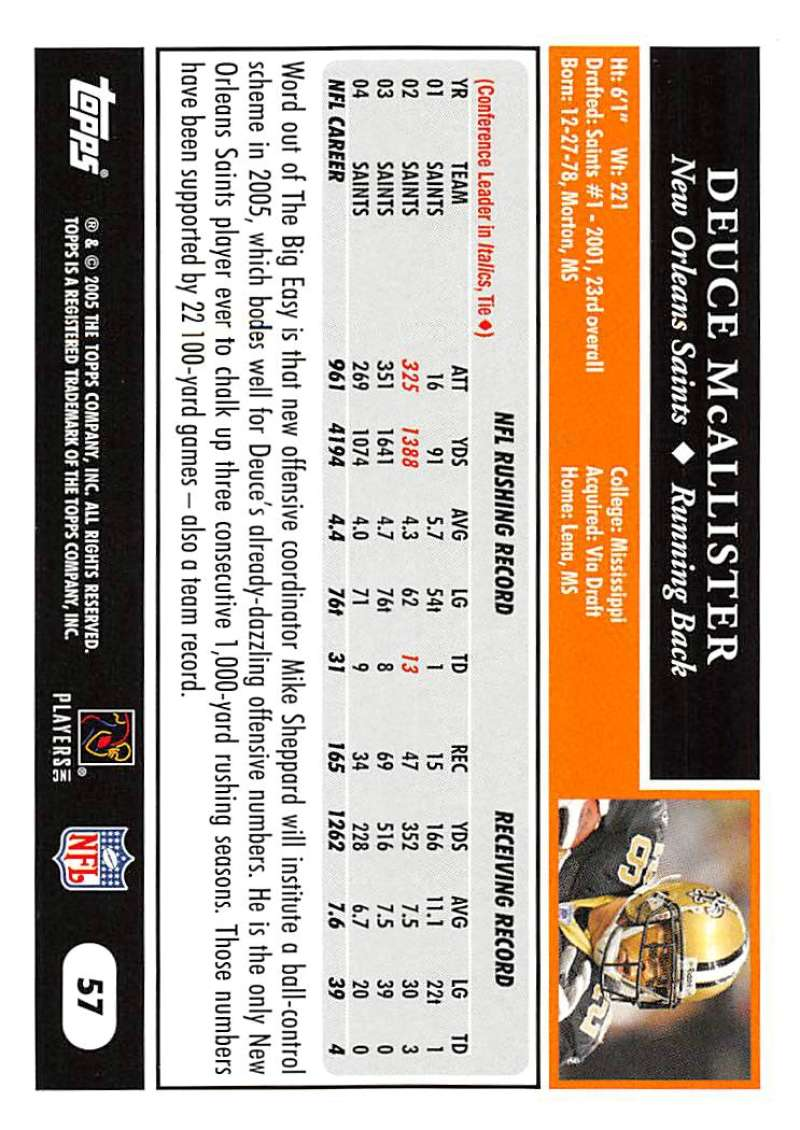 2005-Topps-NFL-Football-Cards-Pick-From-List-1-220 thumbnail 103