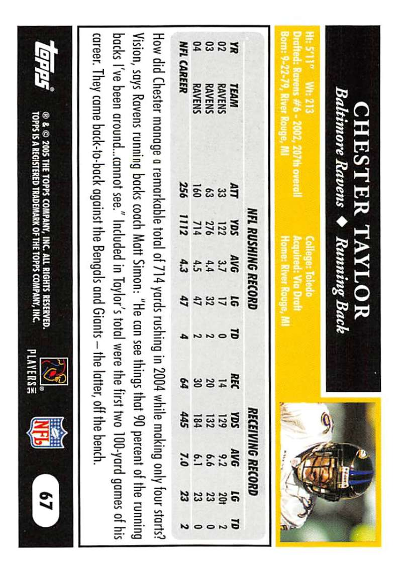 2005-Topps-NFL-Football-Cards-Pick-From-List-1-220 thumbnail 113
