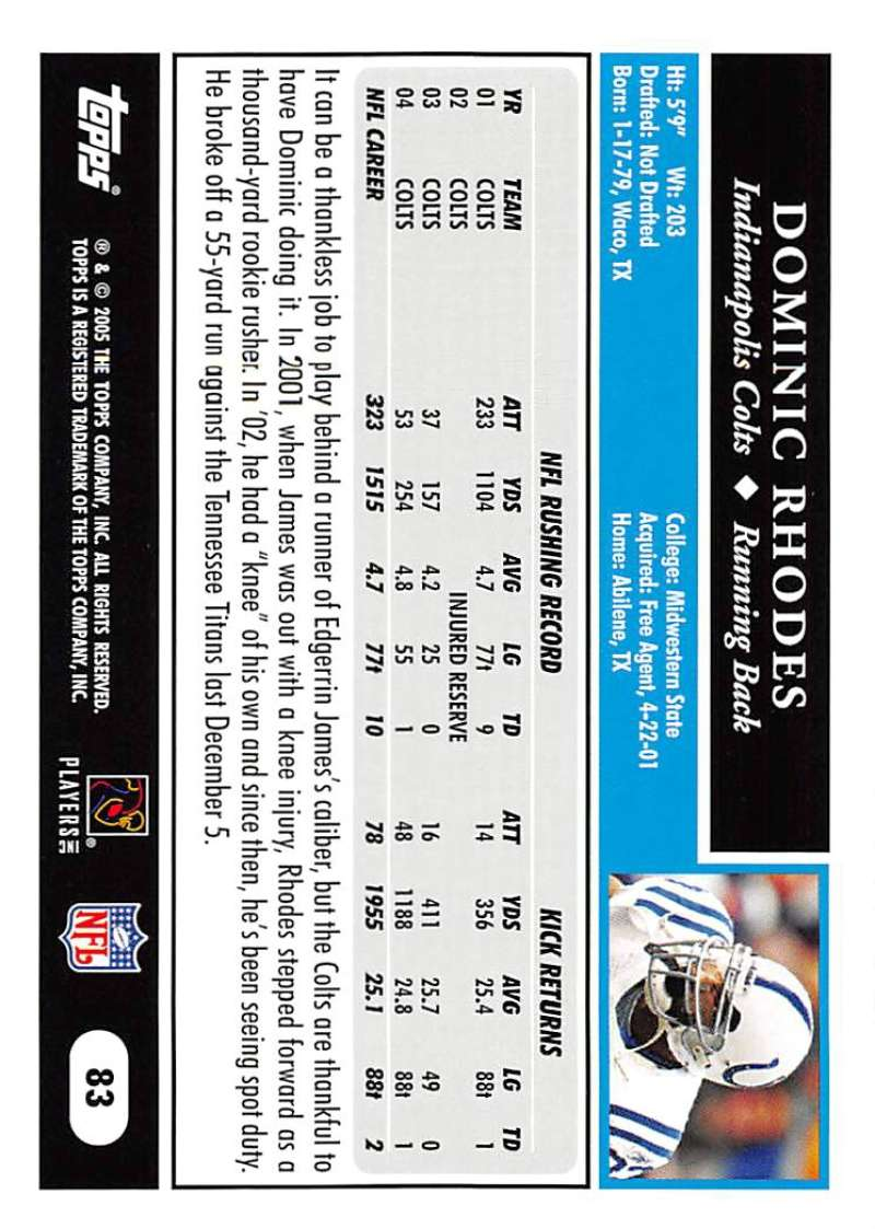 2005-Topps-NFL-Football-Cards-Pick-From-List-1-220 thumbnail 143