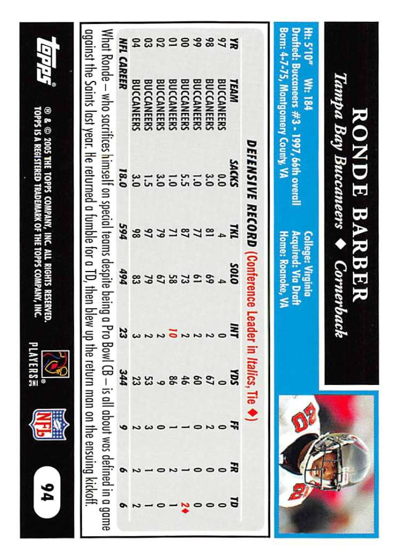 2005-Topps-NFL-Football-Cards-Pick-From-List-1-220 thumbnail 159