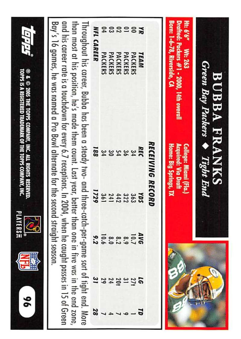 2005-Topps-NFL-Football-Cards-Pick-From-List-1-220 thumbnail 163