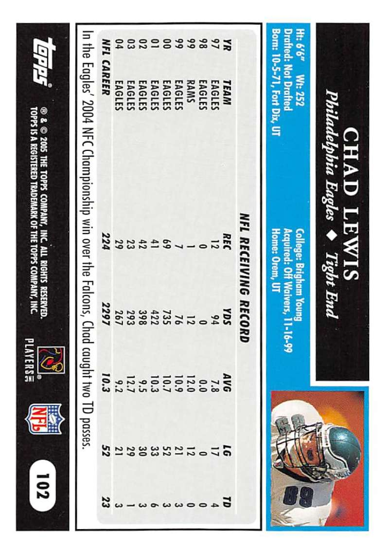 2005-Topps-NFL-Football-Cards-Pick-From-List-1-220 thumbnail 175
