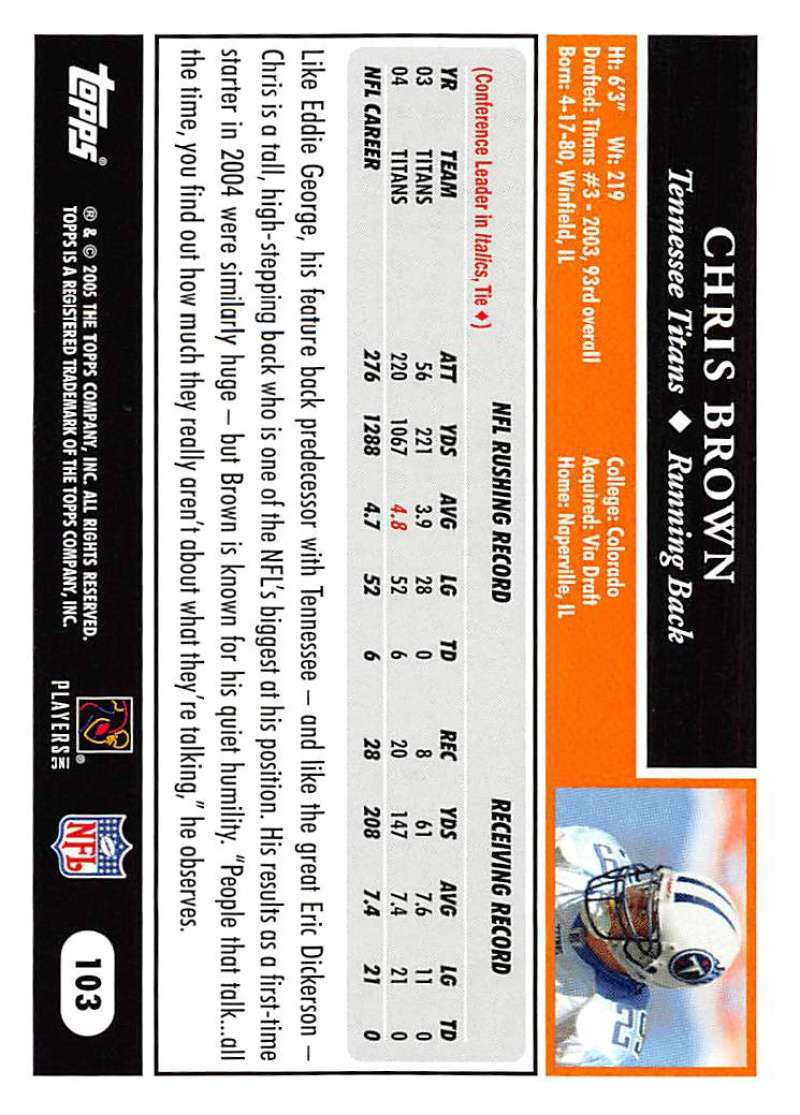 2005-Topps-NFL-Football-Cards-Pick-From-List-1-220 thumbnail 177