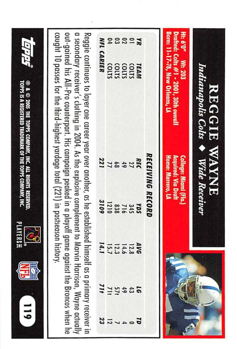 2005-Topps-NFL-Football-Cards-Pick-From-List-1-220 thumbnail 207