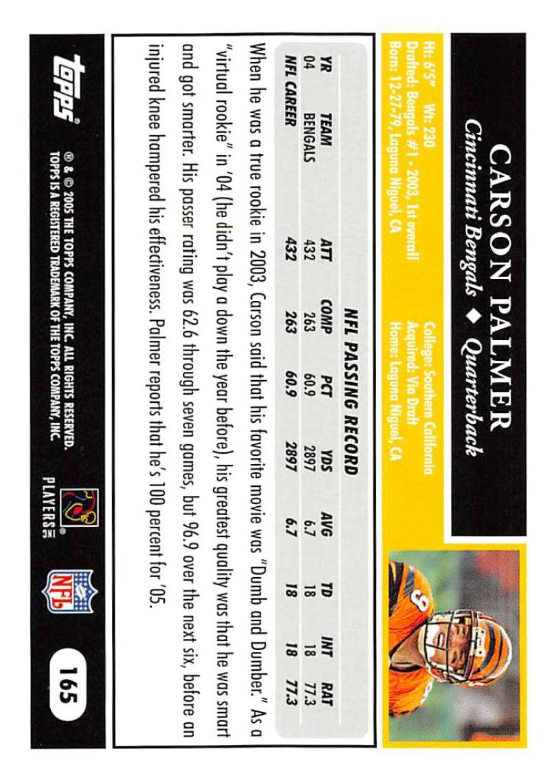 2005-Topps-NFL-Football-Cards-Pick-From-List-1-220 thumbnail 287