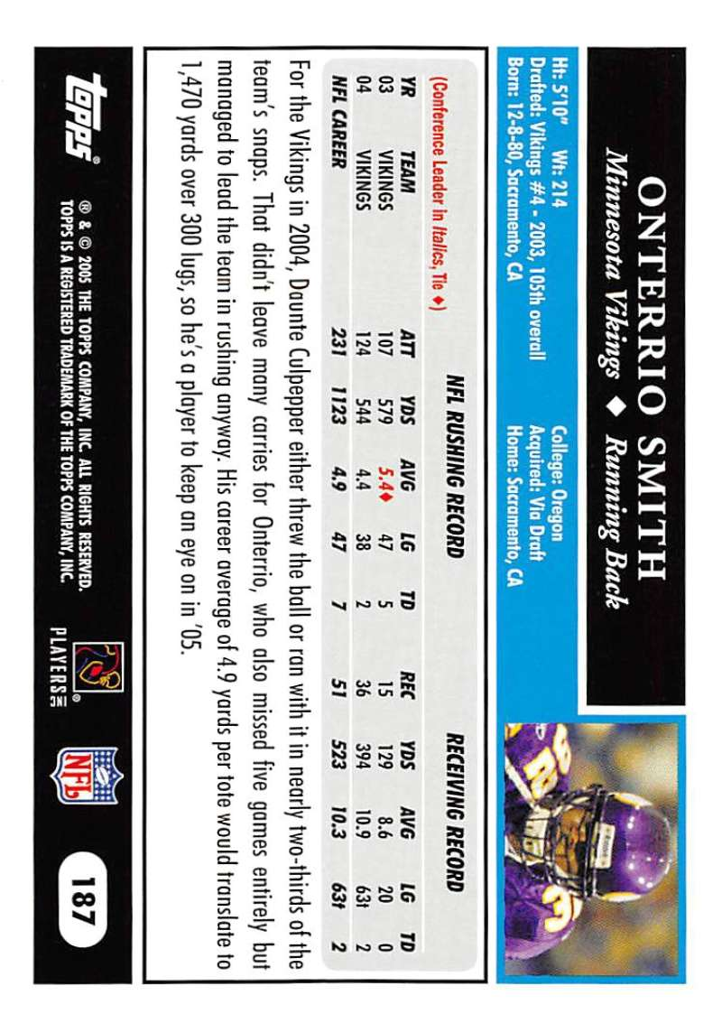 2005-Topps-NFL-Football-Cards-Pick-From-List-1-220 thumbnail 323