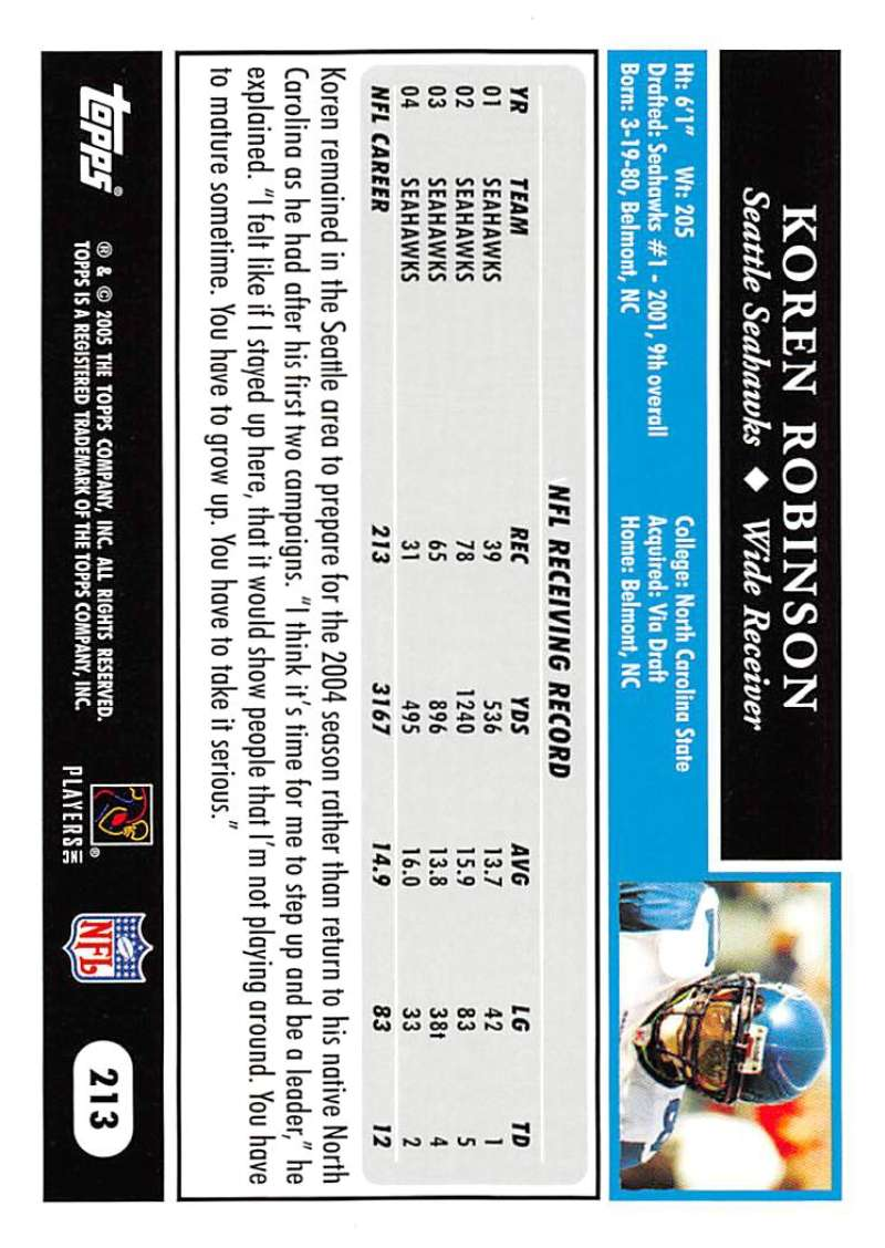 2005-Topps-NFL-Football-Cards-Pick-From-List-1-220 thumbnail 367