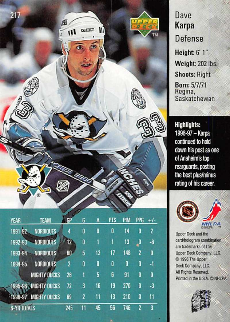 1997-98-Upper-Deck-Hockey-Card-Series-Two-Pick-From-List-211-420 thumbnail 13