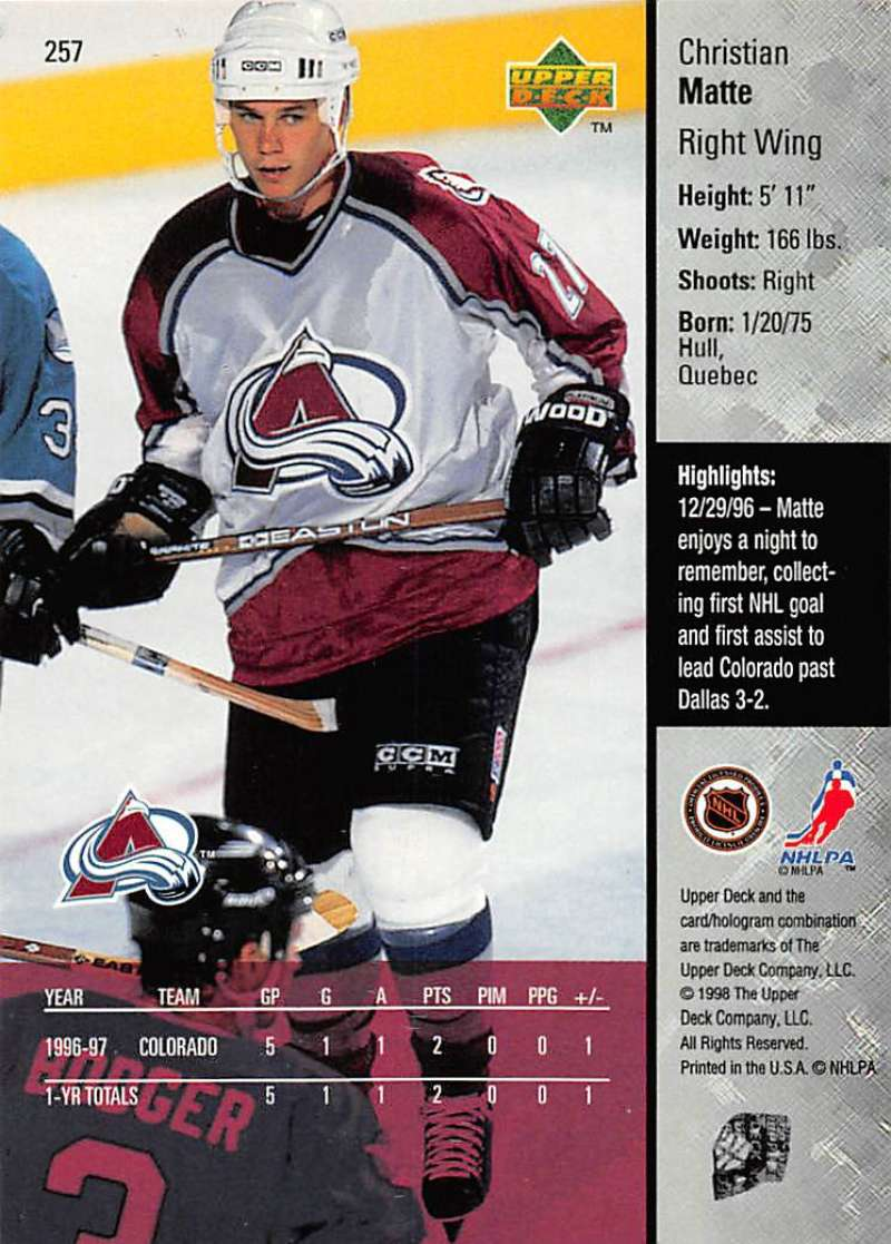 1997-98-Upper-Deck-Hockey-Card-Series-Two-Pick-From-List-211-420 thumbnail 63