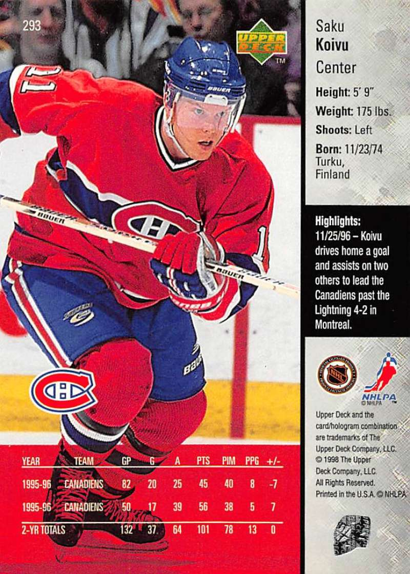 1997-98-Upper-Deck-Hockey-Card-Series-Two-Pick-From-List-211-420 thumbnail 109