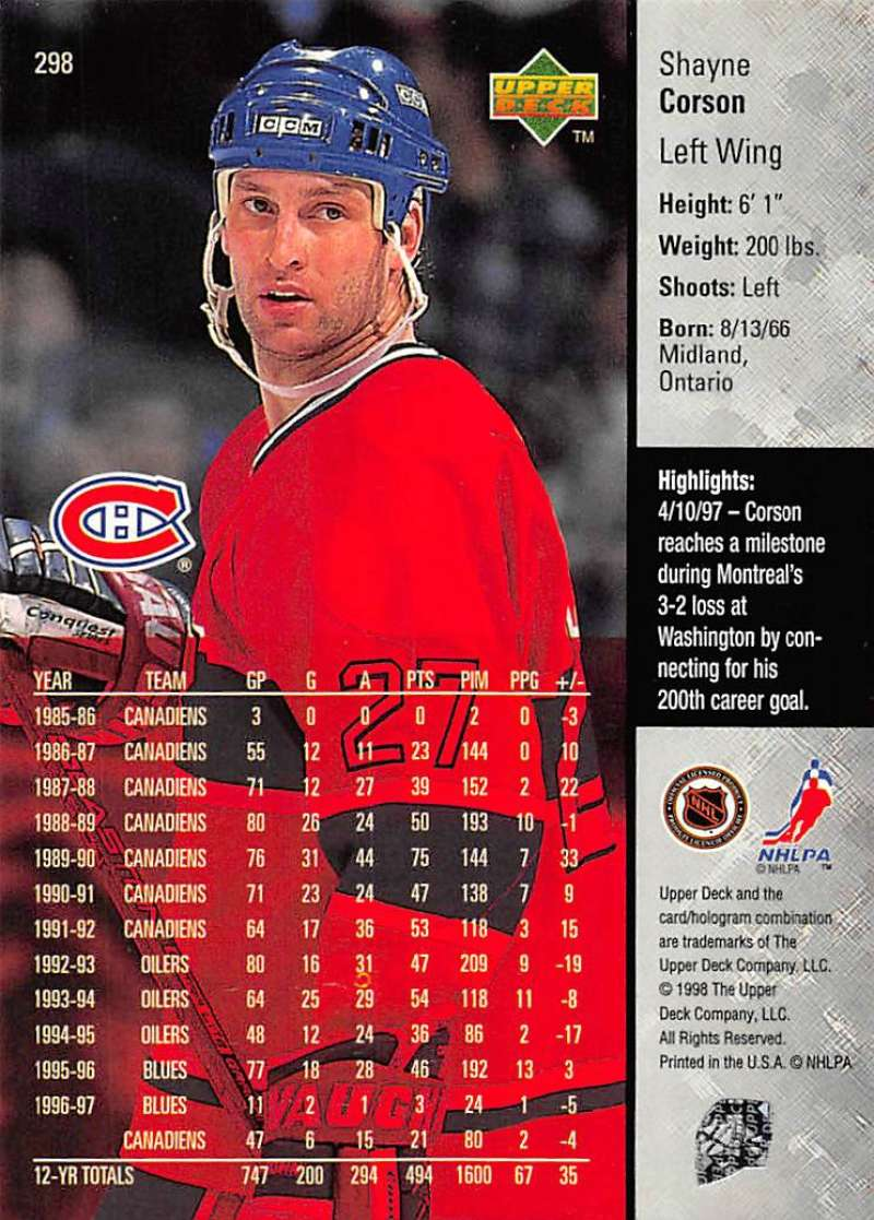 1997-98-Upper-Deck-Hockey-Card-Series-Two-Pick-From-List-211-420 thumbnail 115