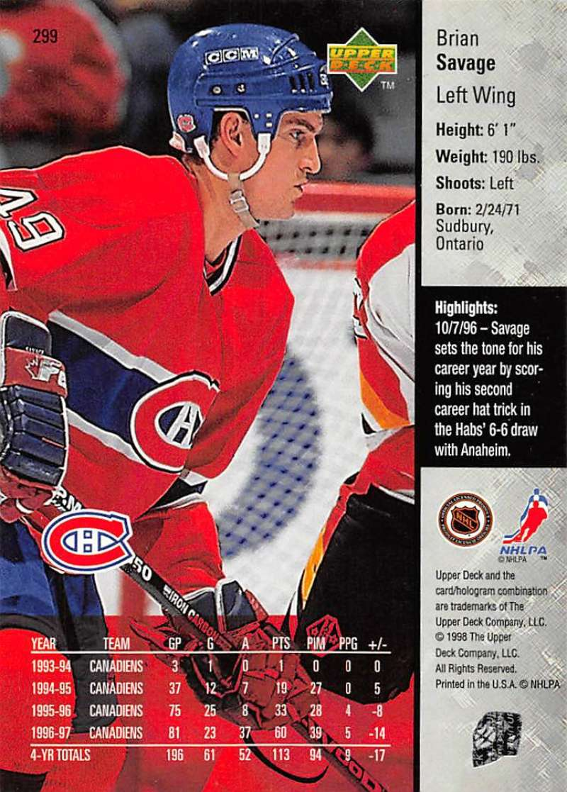 1997-98-Upper-Deck-Hockey-Card-Series-Two-Pick-From-List-211-420 thumbnail 117